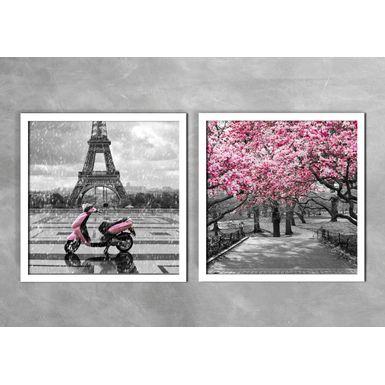 Quadro-Decorativo-Torre-Eiffel-e-Arvores-Rosas-