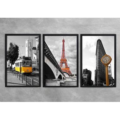 Quadro-Decorativo-Torre-Eiffel-e-Relogio-