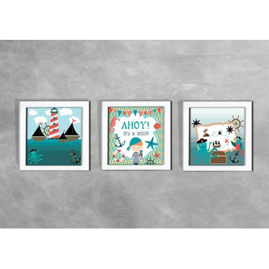 Quadro-Decorativo-Infantil-Ahoy-Its-a-Boy-