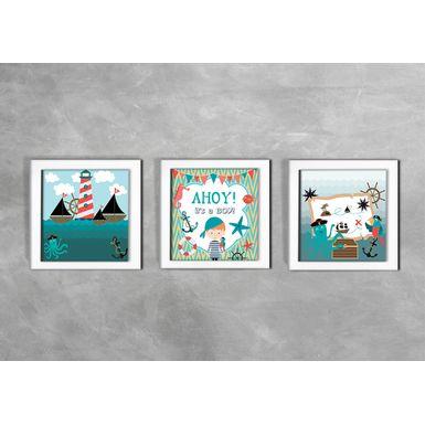Quadro-Decorativo-Infantil-Ahoy-Its-a-Boy-