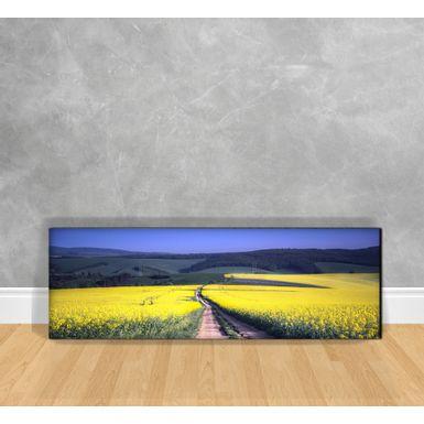 Quadro-Decorativo-Estrada-de-Terra-e-Flores-Amarelas