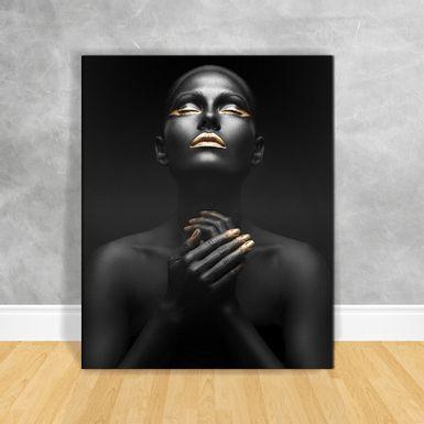 Quadro-Impressao-em-Vidro---Black-Woman-Reflexao