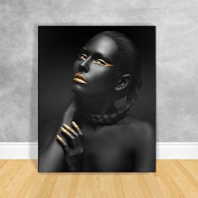 Quadro-Impressao-em-Vidro---Black-Woman-Tranca