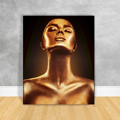Quadro-Impressao-em-Vidro---Black-Woman-Gold