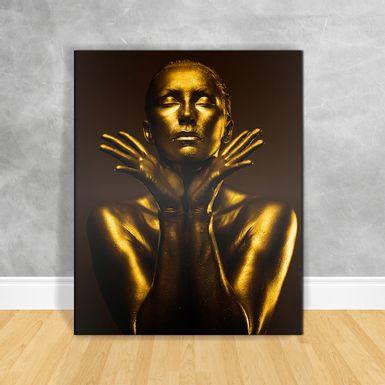 Quadro-Impressao-em-Vidro---Black-Woman-Gold-Perfil