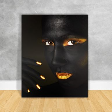 Quadro-Impressao-em-Vidro---Black-Woman-Olhares