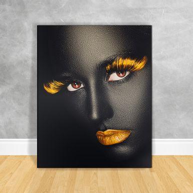 Quadro-Impressao-em-Vidro---Black-Woman-Cilios