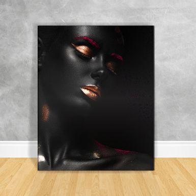Quadro-Impressao-em-Vidro---Black-Woman-Pink
