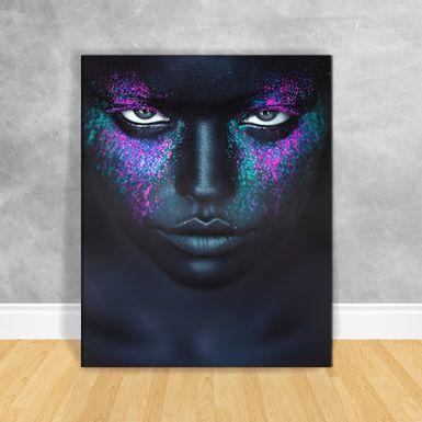 Quadro-Impressao-em-Vidro---Black-Woman-Colorido