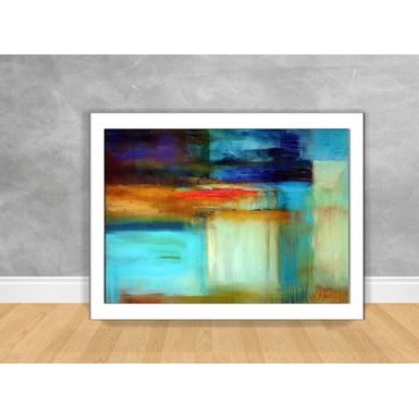 Quadro-Decorativo-Abstrato-Tons-de-Azul