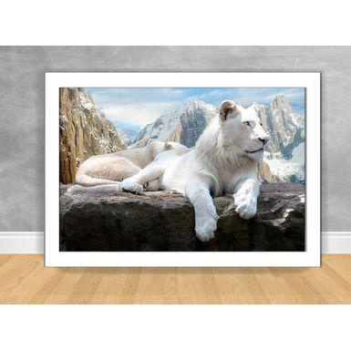 Quadro-Decorativo-Leao-Branco