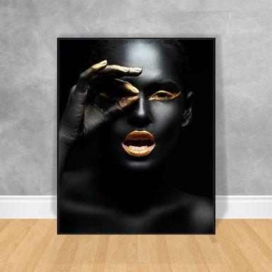 Quadro-Decorativo-Black-Woman-Dedos-nos-Olhos