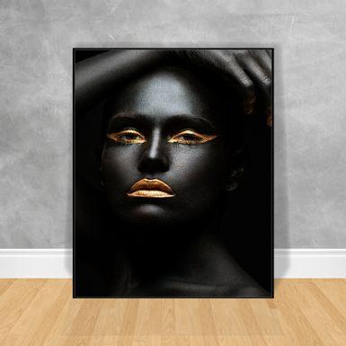 Quadro-Decorativo-Black-Woman-Olhar-Fixo