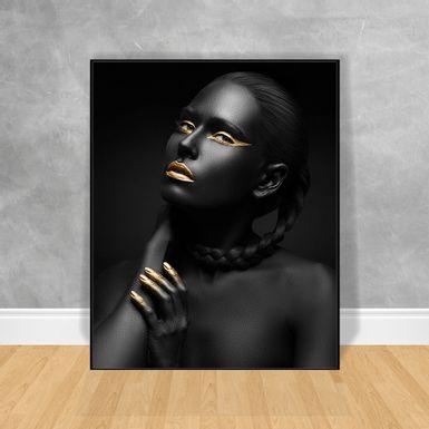 Quadro-Decorativo-Black-Woman-Cabelo-Trancado