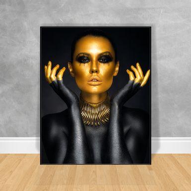 Quadro-Decorativo-Black-Woman-Corpo-Black-Gold