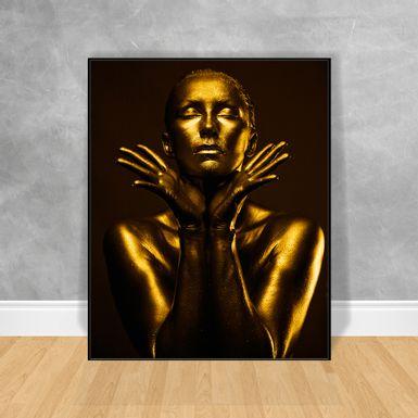 Quadro-Decorativo-Black-Woman-Gold