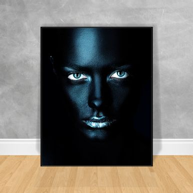Quadro-Decorativo-Black-Woman-Boca-Azul