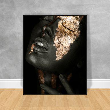 Quadro-Decorativo-Black-Woman-Rosto-Pintado-Lateral