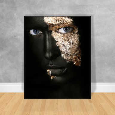 Quadro-Decorativo-Black-Woman-Rosto-Pintado-Frontal