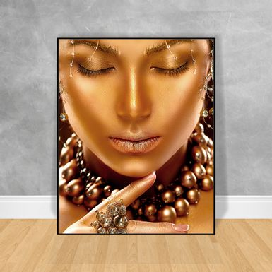 Quadro-Decorativo-Black-Woman-Reflexao-Frontal