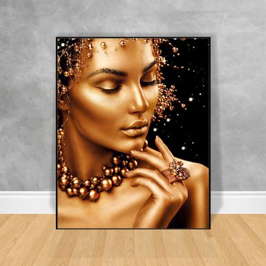 Quadro-Decorativo-Black-Woman-Reflexao-Lateral