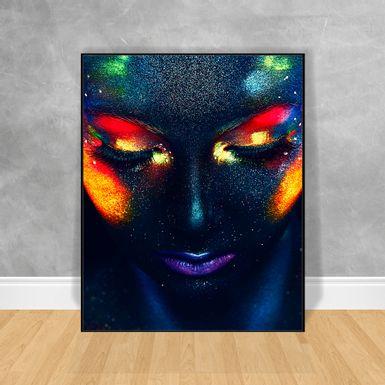Quadro-Decorativo-Black-Woman-Rosto-Estrelado