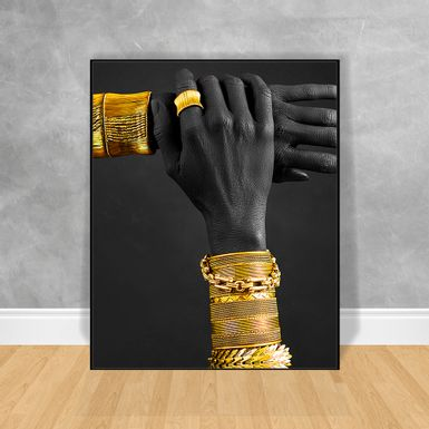 Quadro-Decorativo-Black-Woman-Braceletes