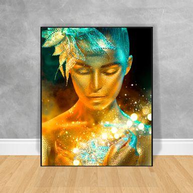 Quadro-Decorativo-Black-Woman-Efeito-Azul