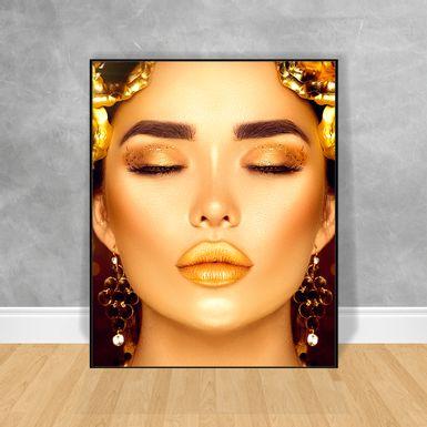 Quadro-Decorativo-Black-Woman-Rosto-Lilas