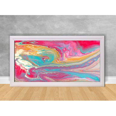 Quadro-Decorativo-Abstrato-Rosa-e-Cores-Coloridas