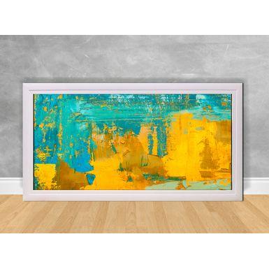 Quadro-Decorativo-Abstrato-Metade-Azul-e-Amarelo