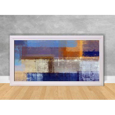 Quadro-Decorativo-Abstrato-Dourado-e-Azul-Tons-Claros-e-Escuros