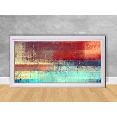 Quadro-Decorativo-Abstrato-Azul-Claro-e-Vermelho