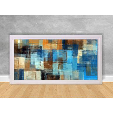 Quadro-Decorativo-Abstrato-Azul-e-Laranja