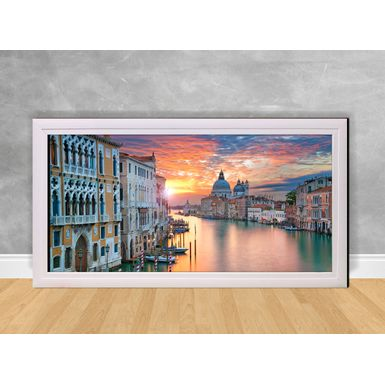 Quadro-Decorativo-Veneza-Por-do-Sol