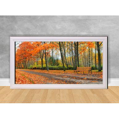 Quadro-Decorativo-Floresta-com-Folhas-Laranjas