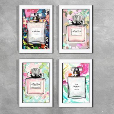 Kit-de-4-Quadros-Moda-Miss-Dior-e-Chanel-Branca