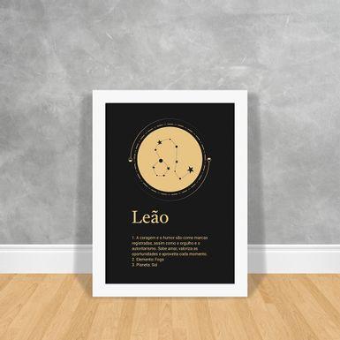 Signos-Gold-Leao-Branca-30x40