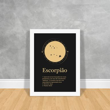 Signos-Gold-Escorpiao-Branca-30x40