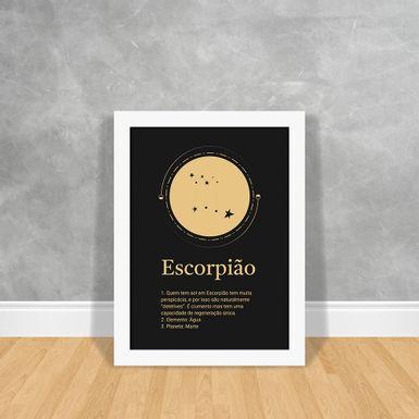 Signos-Gold-Escorpiao-Branca-30x40