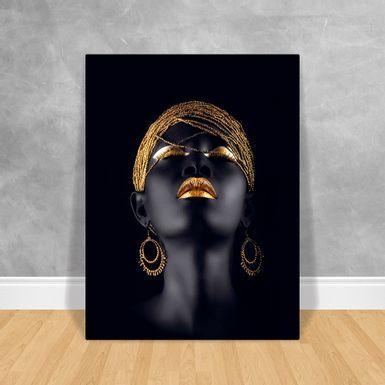 Black-Woman-Brincos-Dourados-60x80