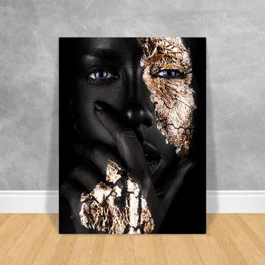 Black-Woman-Preto-e-Gold-60x80