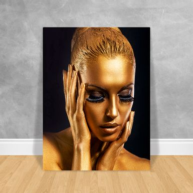 Black-Woman-Gold-Rosto-e-Maos-60x80