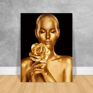Black-Woman-Buque-Gold-60x80