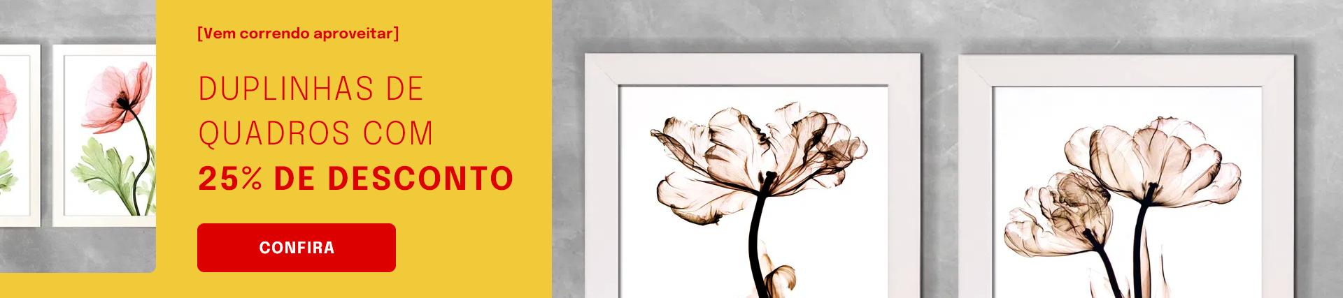 25% Conjuntos Abstratos e Florais