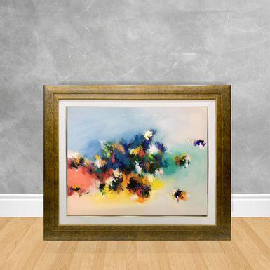 Tela-a-Oleo-Abstrato-Belo-Jardim-90x70-Madeira-Tom-Escuro--D3-