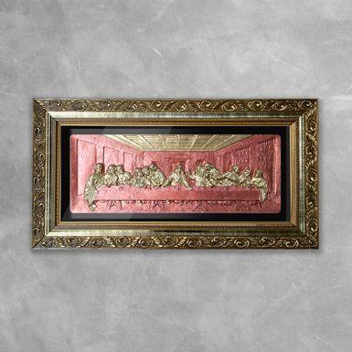 Quadro-Decorativo-Santa-Ceia-3D-Dourada