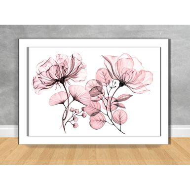 Quadro-Decorativo-Floral-Raio-X-Rosa-I-100x70