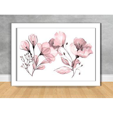 Quadro-Decorativo-Floral-Raio-X-Rosa-II-100x70-Branca