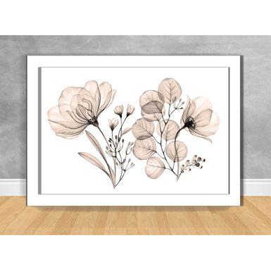Quadro-Decorativo-Floral-Raio-X-Sepia-100x70-Branca